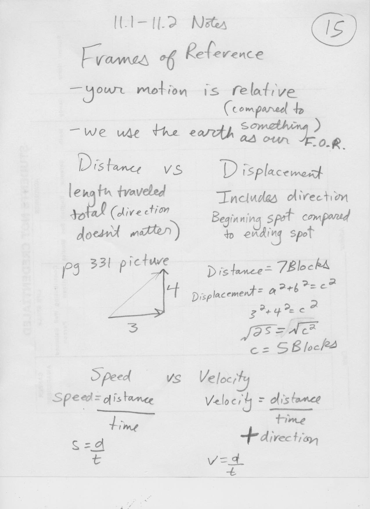 Distance and Displacement Worksheet Distance Vs Displacement Worksheet