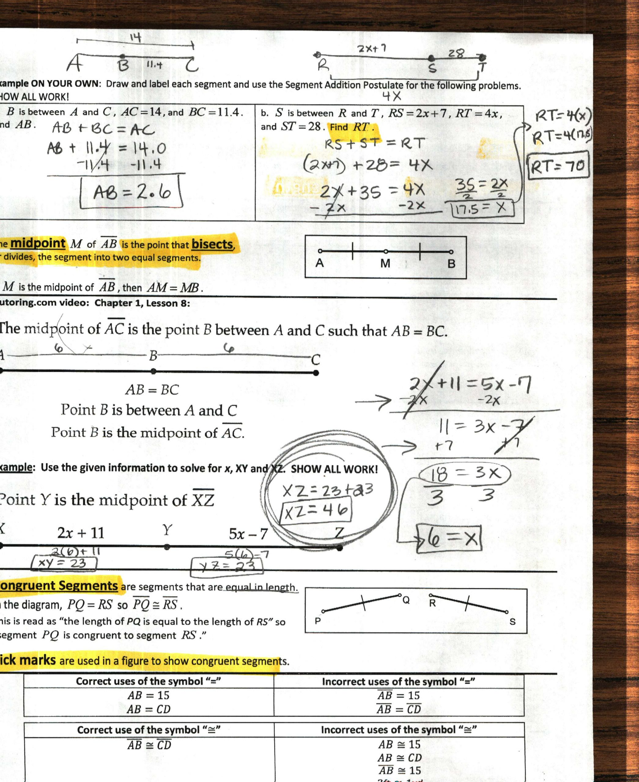 Distance and Midpoint formula Worksheet 1st Six Weeks Coach Hughes Website