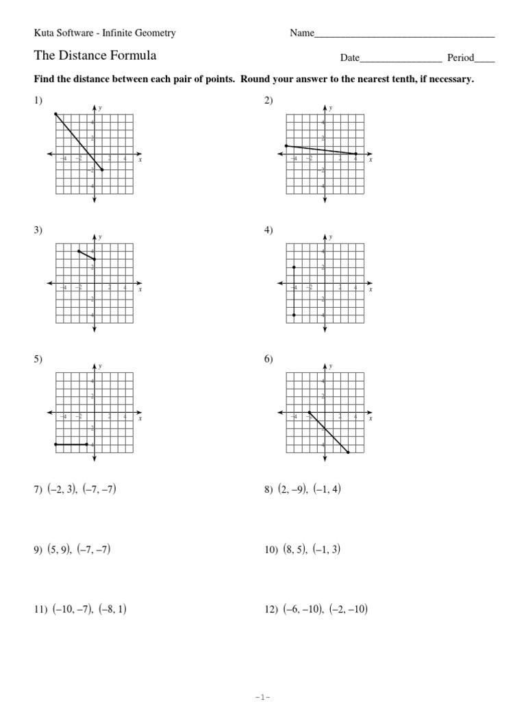 Distance and Midpoint formula Worksheet 3 the Distance formula Physics & Mathematics