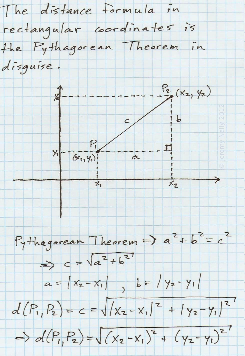 Distance and Midpoint formula Worksheet the Distance formula In Rectangular Cartesian Coordinates