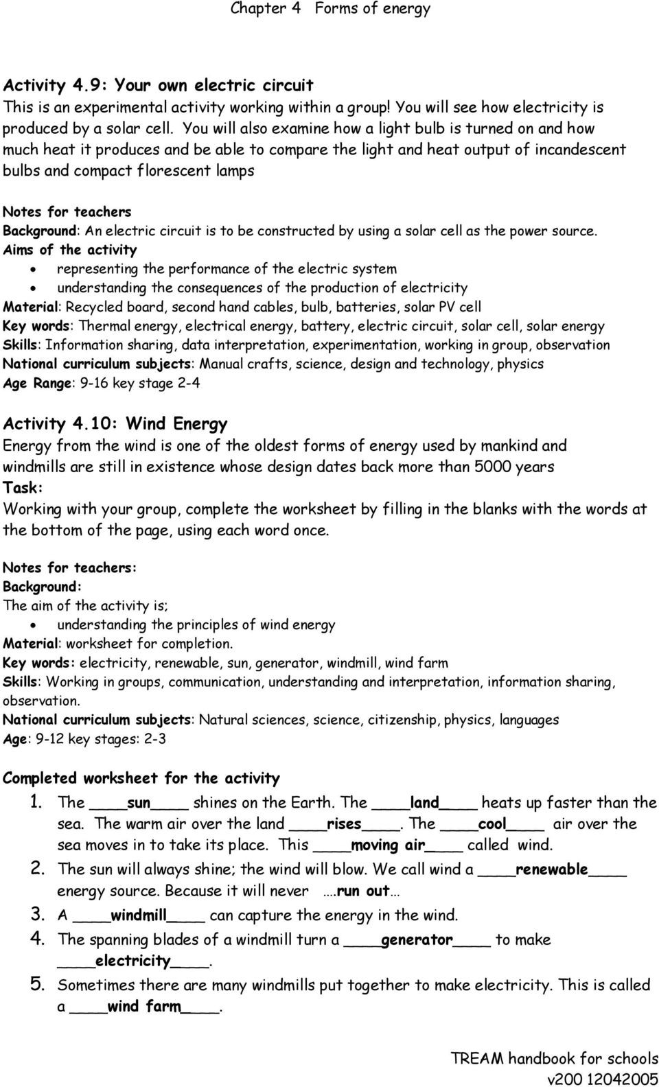 Electrical Power Worksheet Answers Electrical Power and Energy Worksheet Energy Etfs
