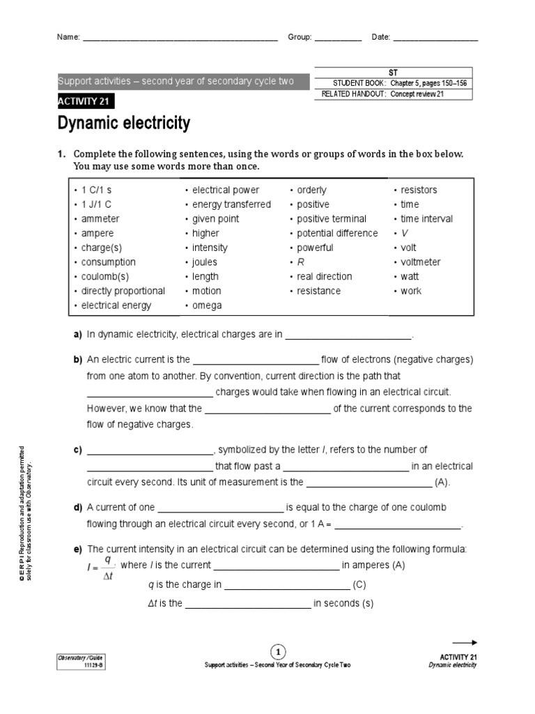 Electrical Power Worksheet Answers Worksheet V I R P E 0c Volt