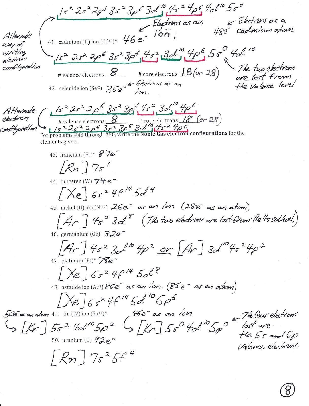 Electron Configuration Practice Worksheet Pin On Printable Worksheet Answer Key