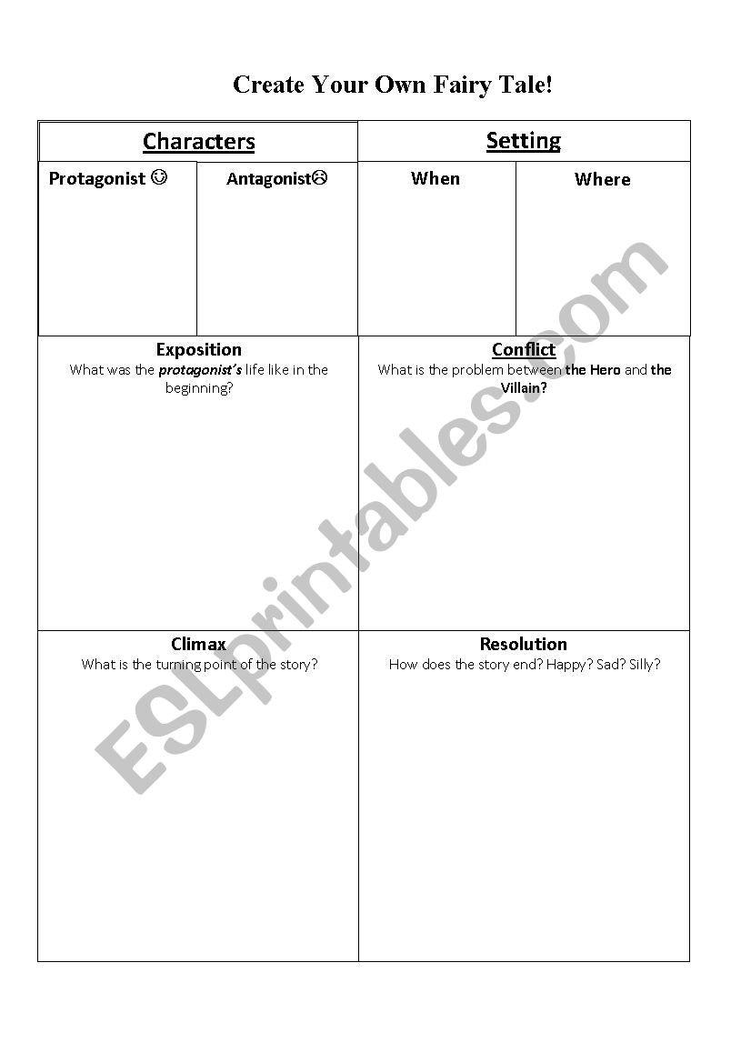 Elements Of Fiction Worksheet Elements Of Fiction Esl Worksheet by Jkateaham