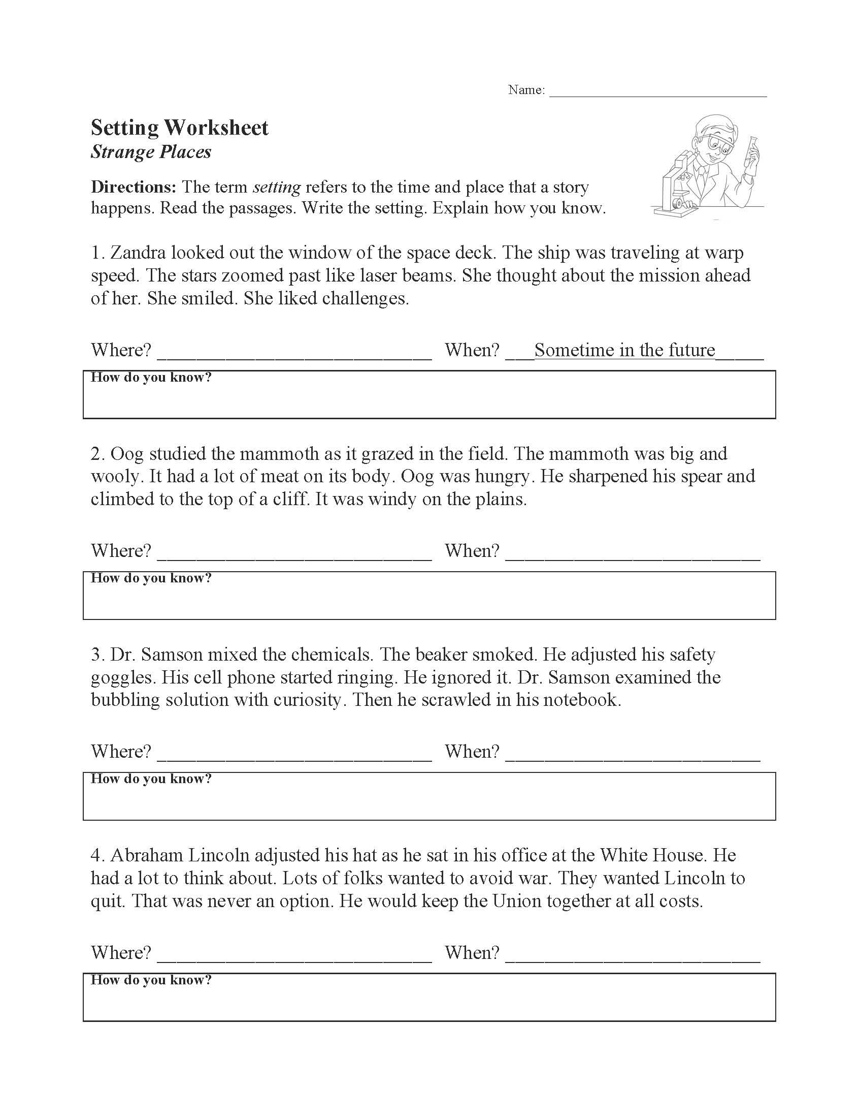 Elements Of Fiction Worksheet Elements Of Fiction Worksheets