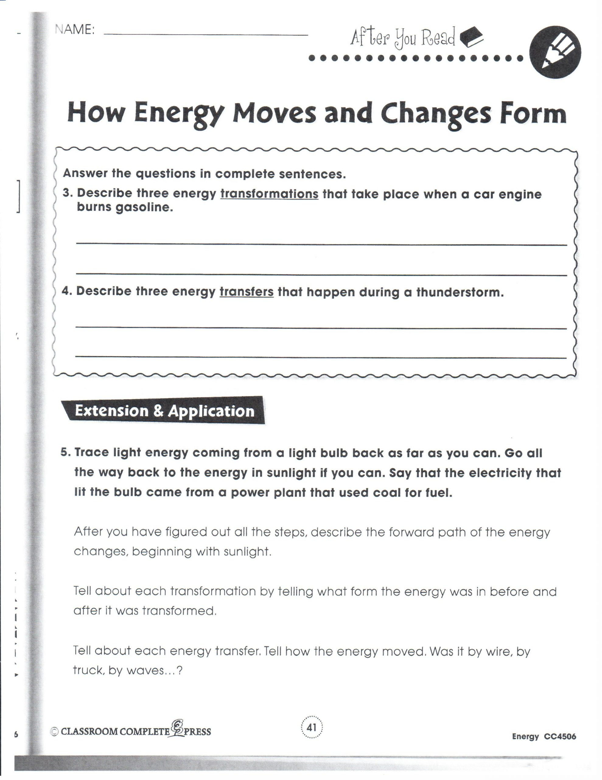 Energy Transformation Worksheet Answers Helpers Essay Domestic Premier Homewares Writing the