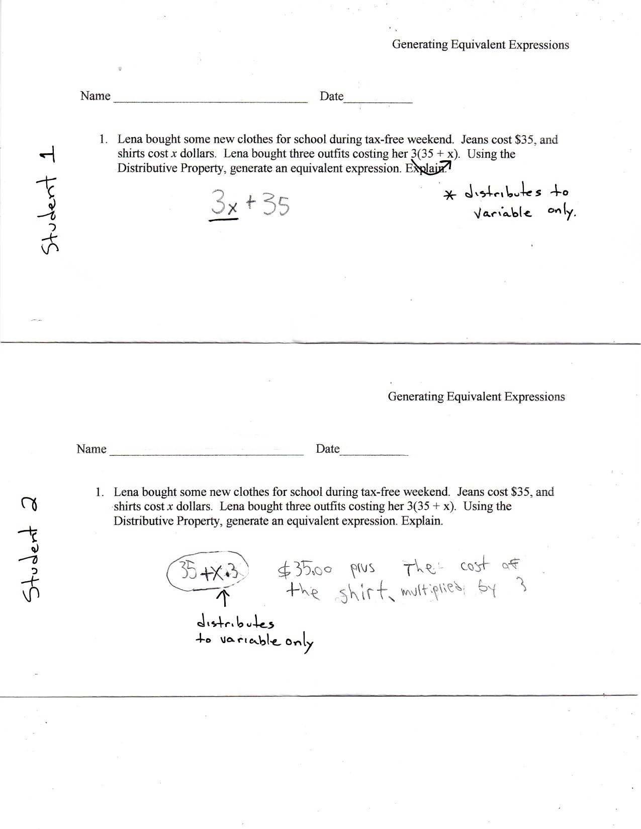 Equivalent Expressions Worksheet 6th Grade 29 Equivalent Expressions Worksheet 6th Grade Worksheet