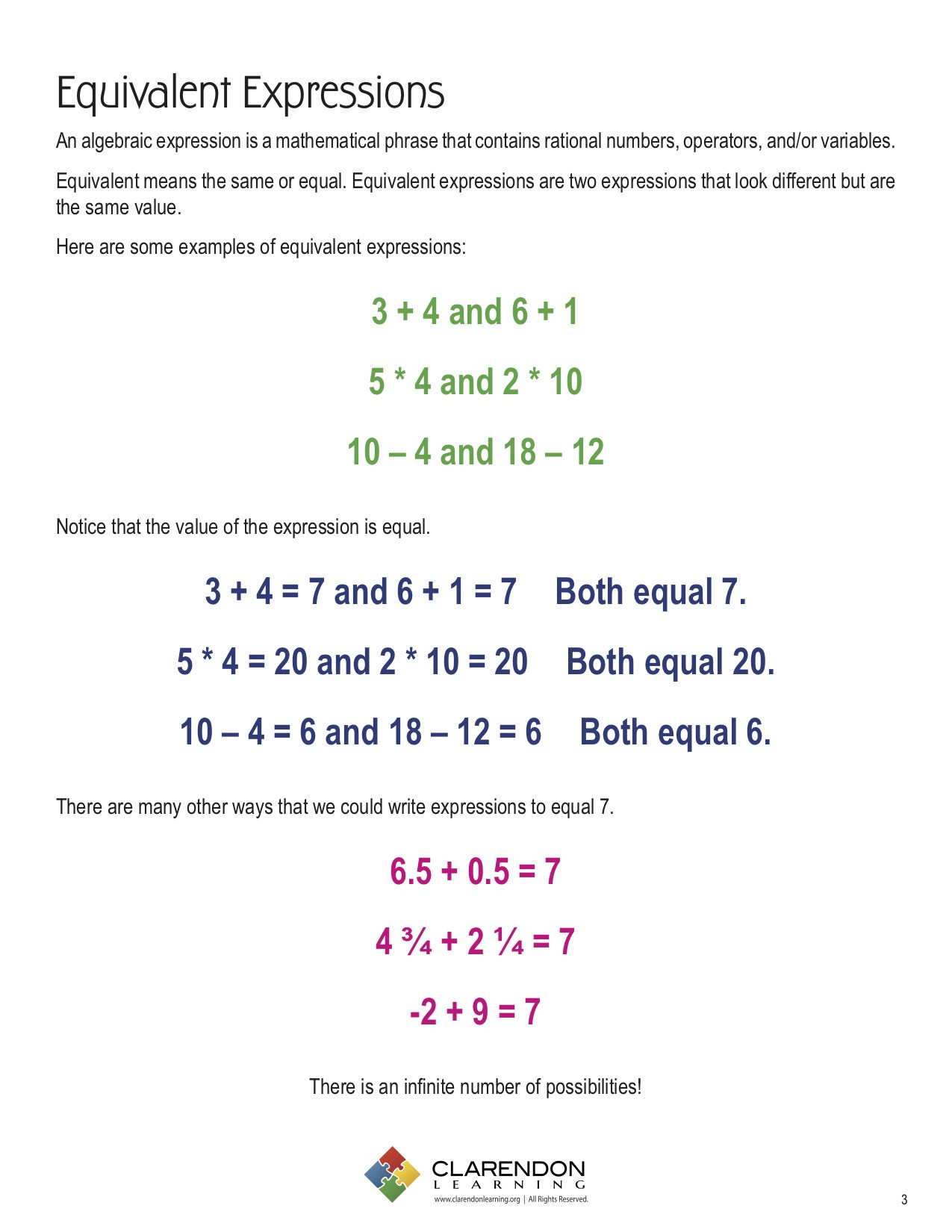 Equivalent Expressions Worksheet 6th Grade Equivalent Expressions Worksheets and Answers