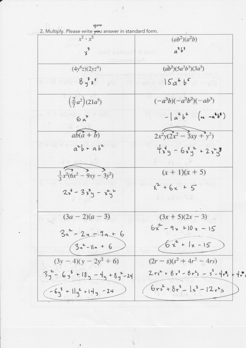 Factoring Polynomials Worksheet Answers 25 Algebra 1 Unit 8 Factoring by Using the Gcf Worksheet