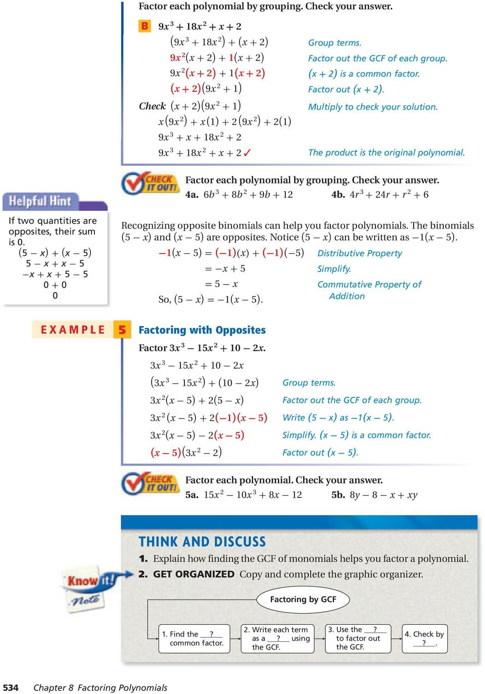 Factoring Polynomials Worksheet Answers Factoring Polynomials Pdf Free Download