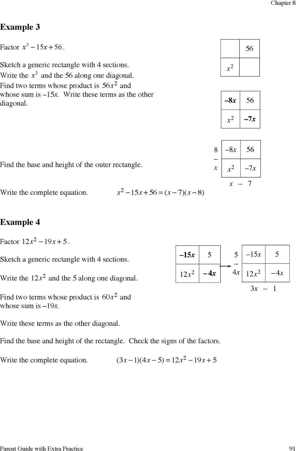 Factoring Special Cases Worksheet Factoring Quadratics Through Pdf Free Download