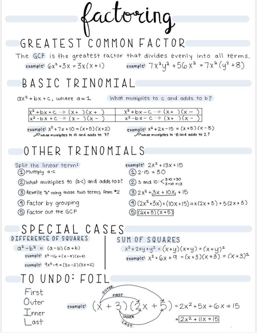 Factoring Special Cases Worksheet Pin On Handwriting