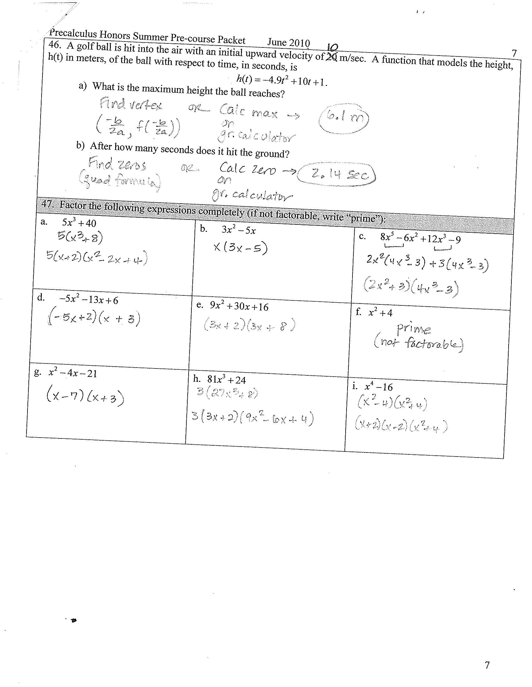 Factoring Special Cases Worksheet Worksheet Factoring Jokes