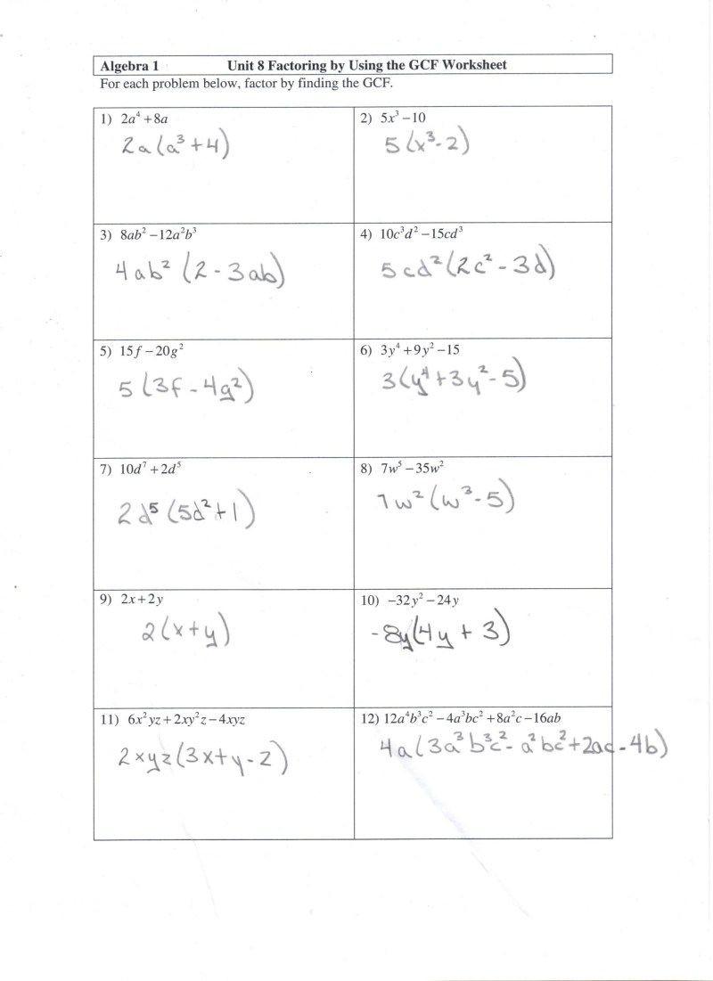 Factoring Trinomials Worksheet Algebra 2 solving Quadratic Equations by Factoring Worksheet Answers