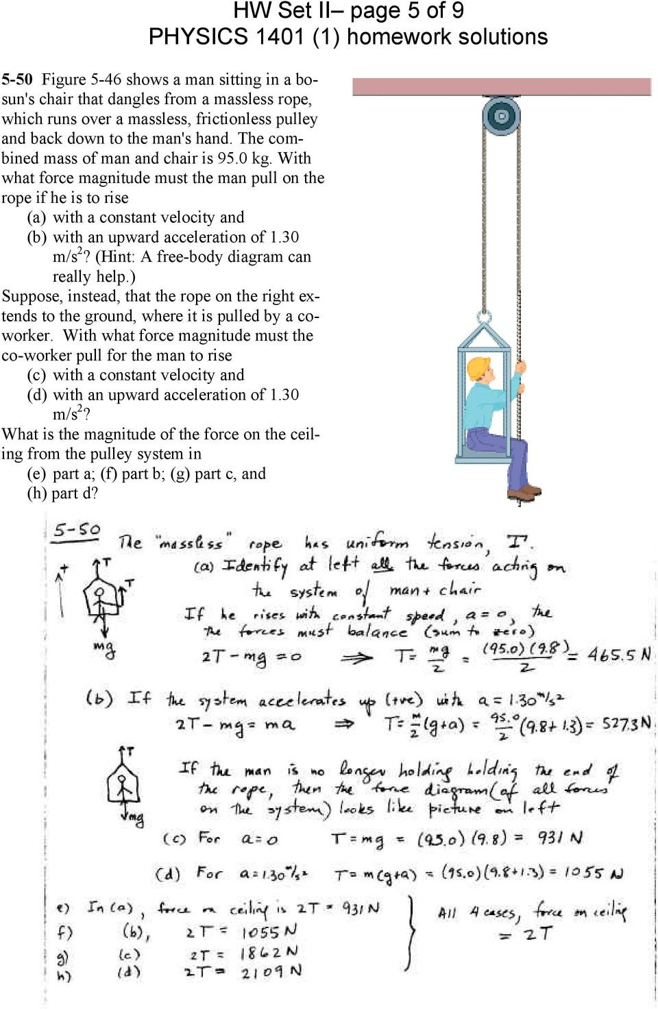 Free Body Diagram Worksheet Answers Ka 5783] Unbalanced force Diagram Free Body Diagram Man