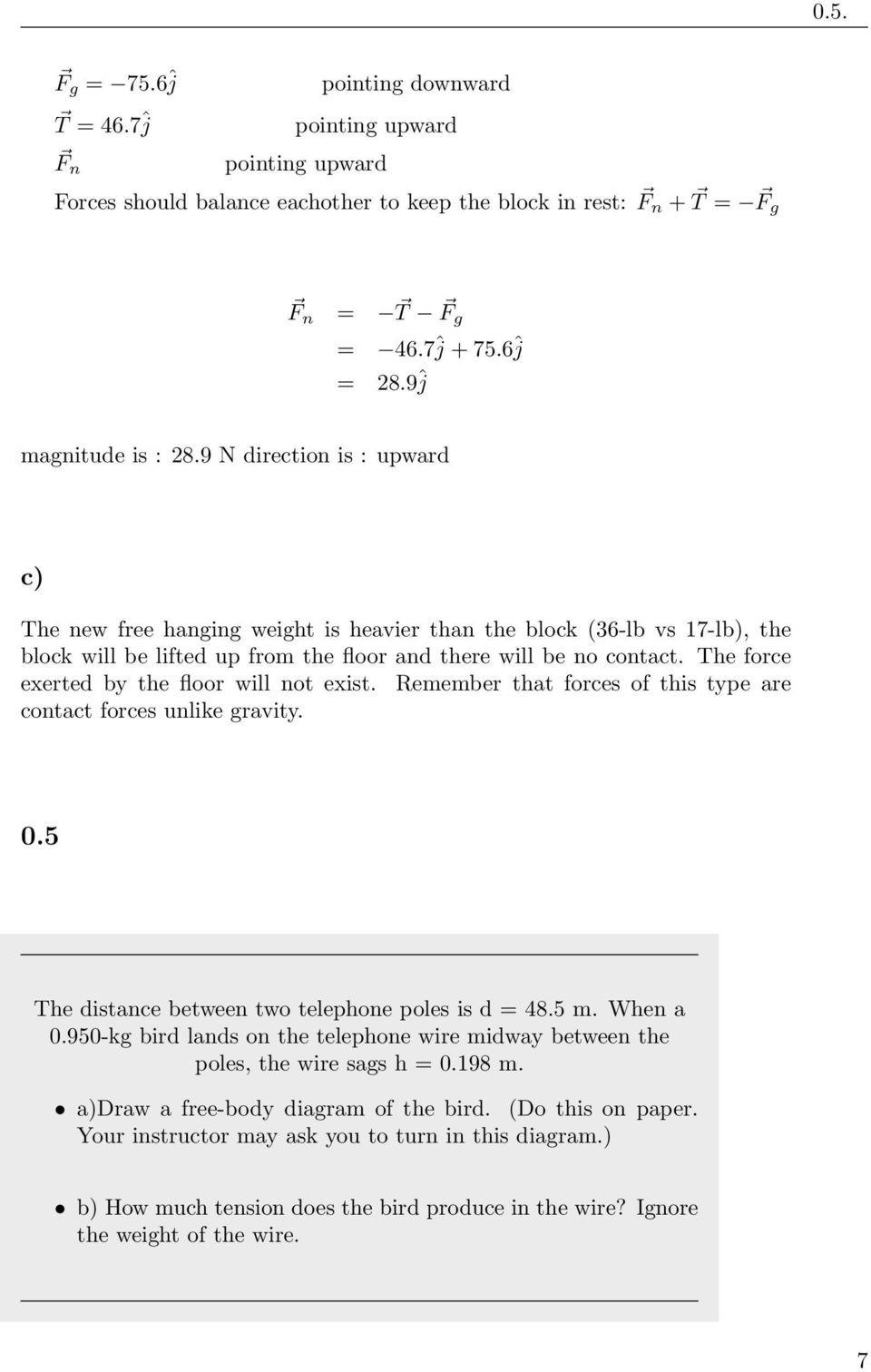 Free Body Diagram Worksheet Answers Physics 111 Homework solution Week 4 Chapter 5 Sec 1 7