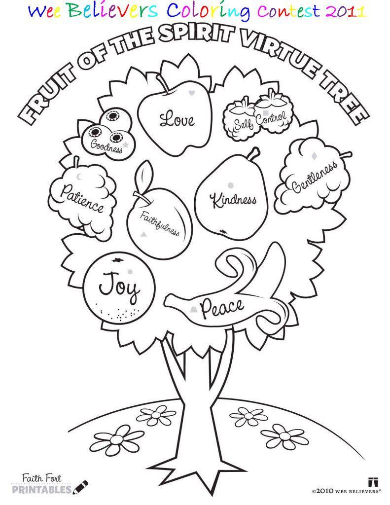 Fruits Of the Spirit Worksheet Coloring Book Gentleness Fruit the Spirit for Kids