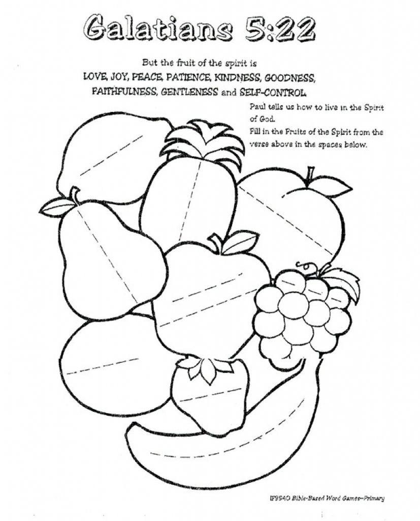 Fruits Of the Spirit Worksheet Coloring Fruits the Spirit New Fruit Joy Primary School