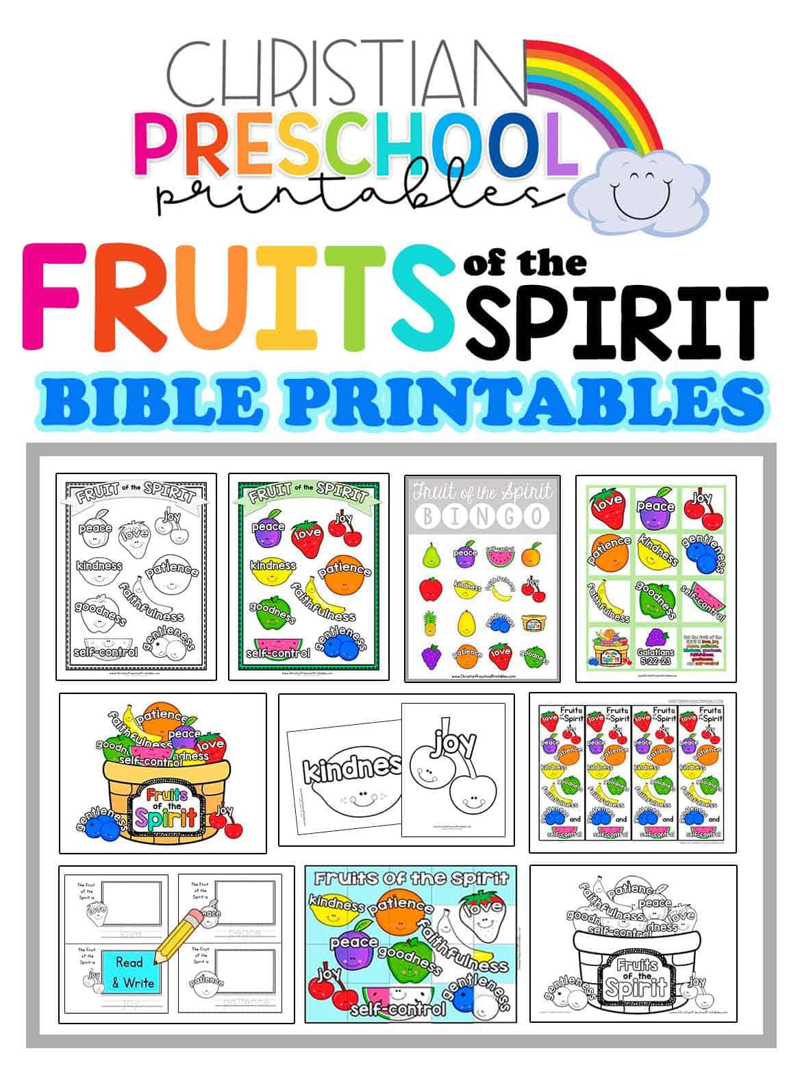 Fruits Of the Spirit Worksheet Fruit Of the Spirit Printables Christian Preschool Printables
