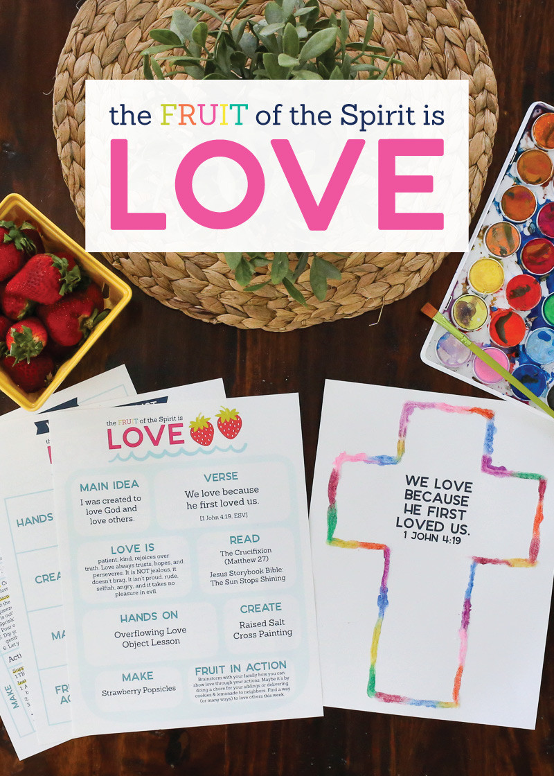 Fruits Of the Spirit Worksheet the Fruit Of the Spirit is Love Kids Activities by the