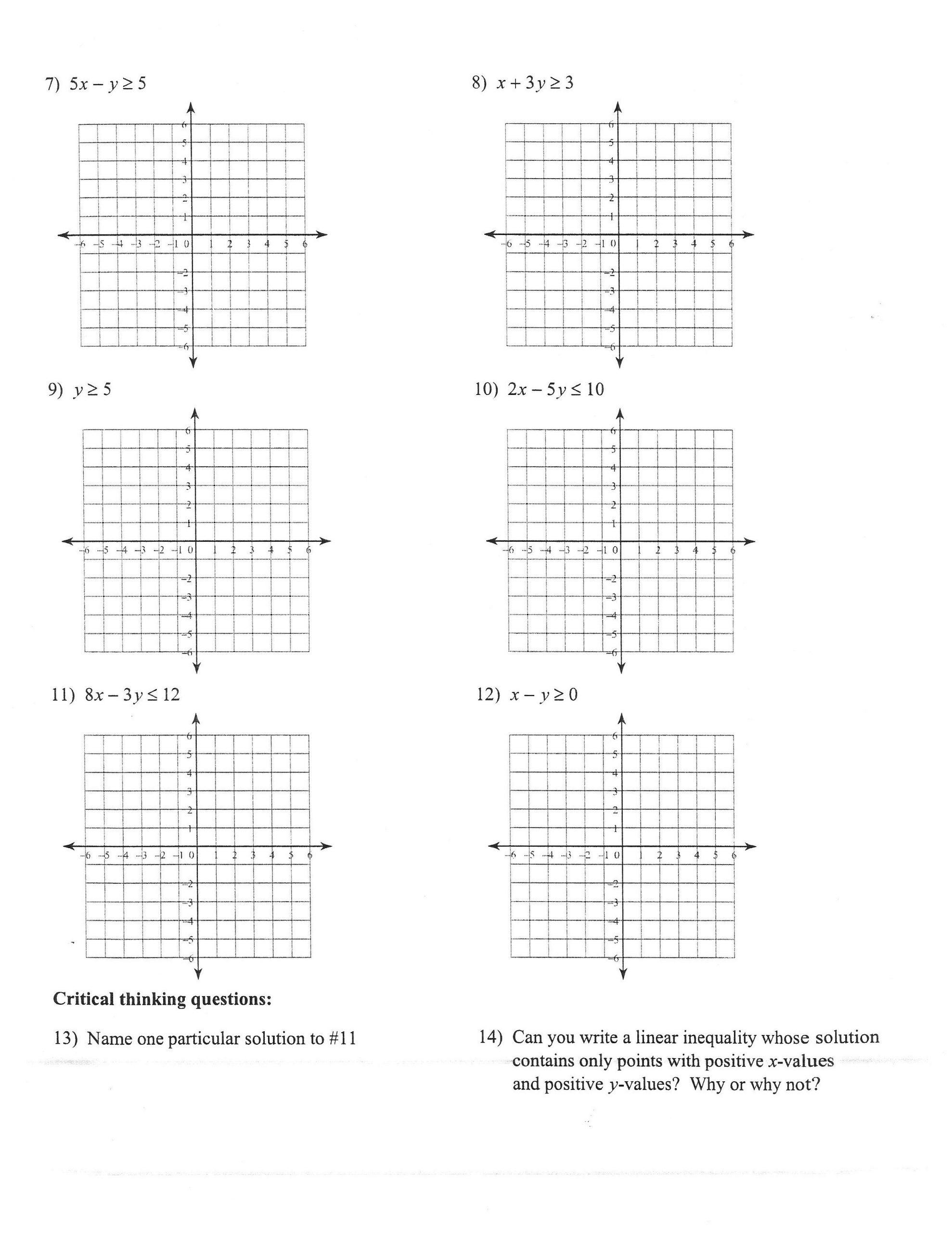 Graphing Absolute Value Inequalities Worksheet 32 Graphing Linear Inequalities Worksheet Answers