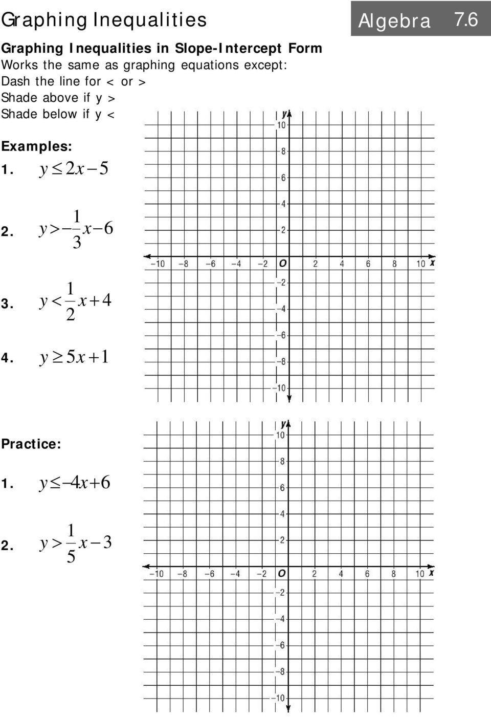 Graphing Systems Of Equations Worksheet Graphing A System Of Equations Algebra Pdf Free Download
