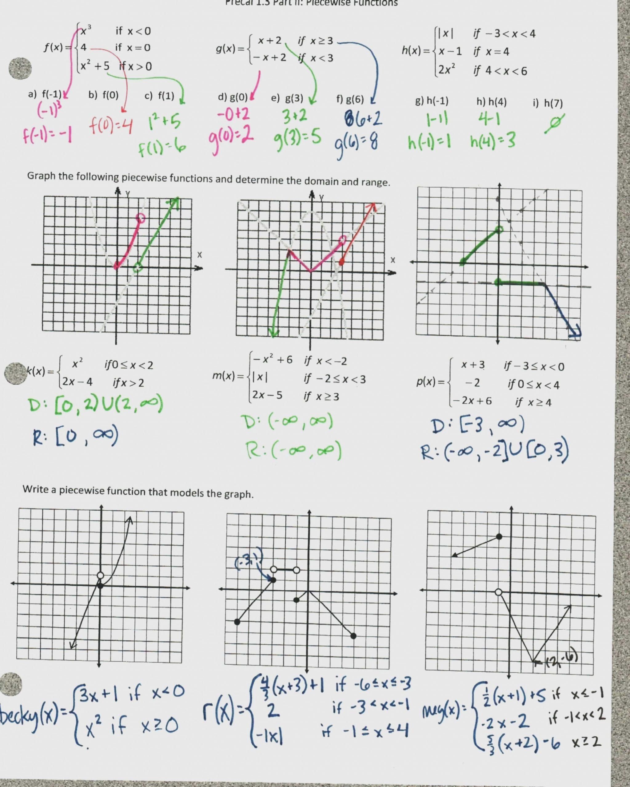 Graphing Trig Functions Practice Worksheet Graphing Sinusoidal Functions Worksheet