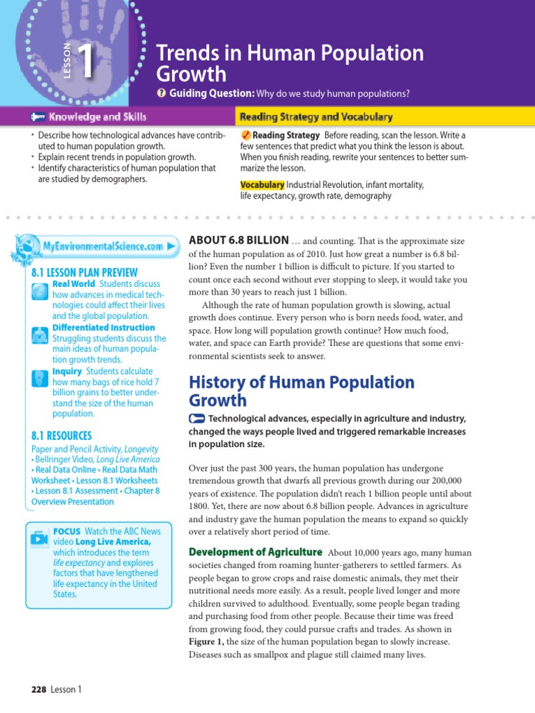 Human Population Growth Worksheet Answer Nlenvirte 3081 World Population Population Growth