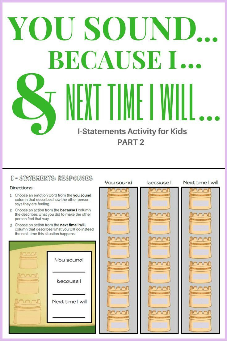 I Feel Statements Worksheet I Statements Worksheet for Elementary Educators