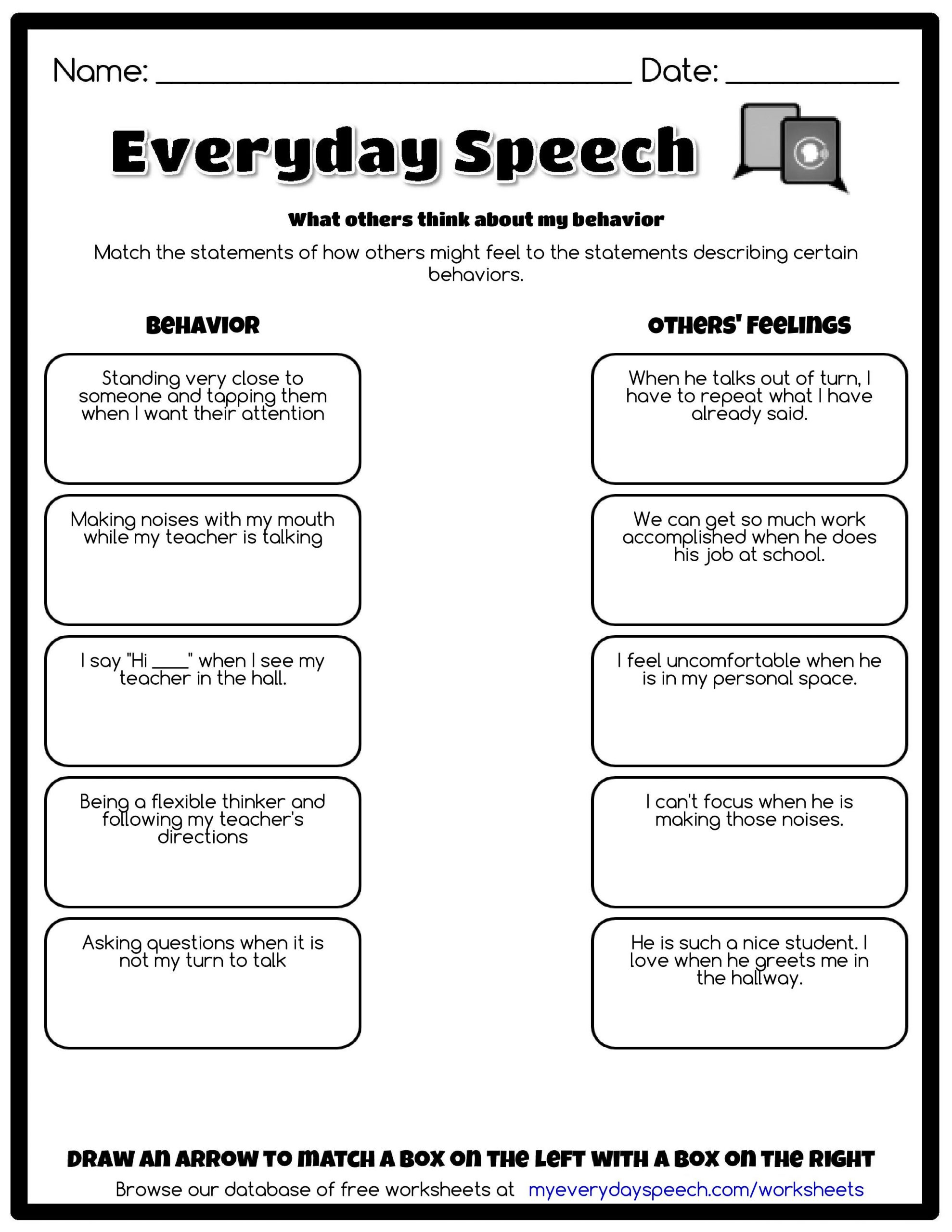 I Feel Statements Worksheet Worksheet Creator