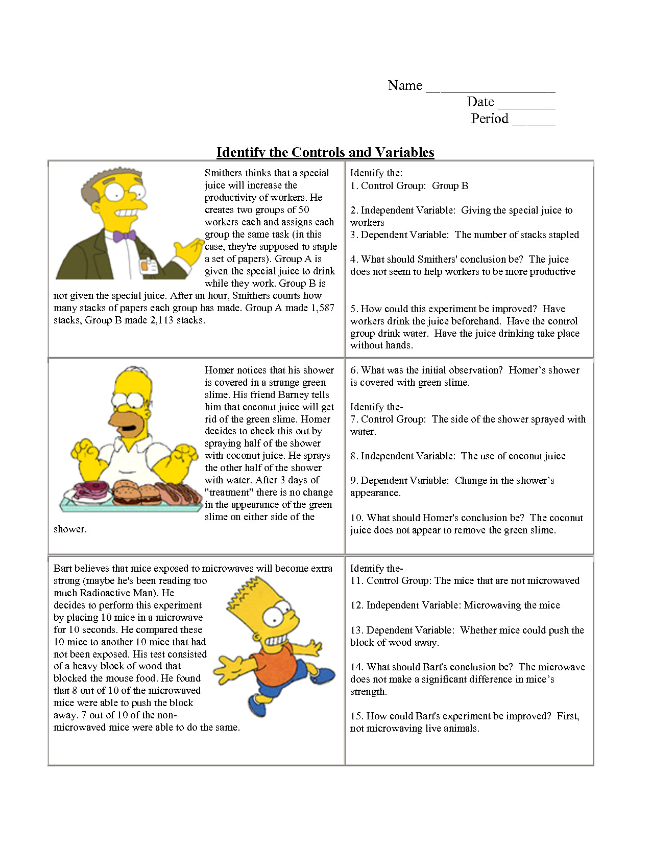 Identifying Variables Worksheet Answers Lovely the Nature Science Worksheet Answers