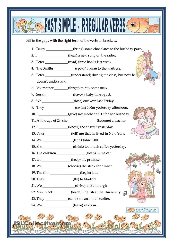 Irregular Verbs Worksheet Pdf Past Simple Irregular Verbs