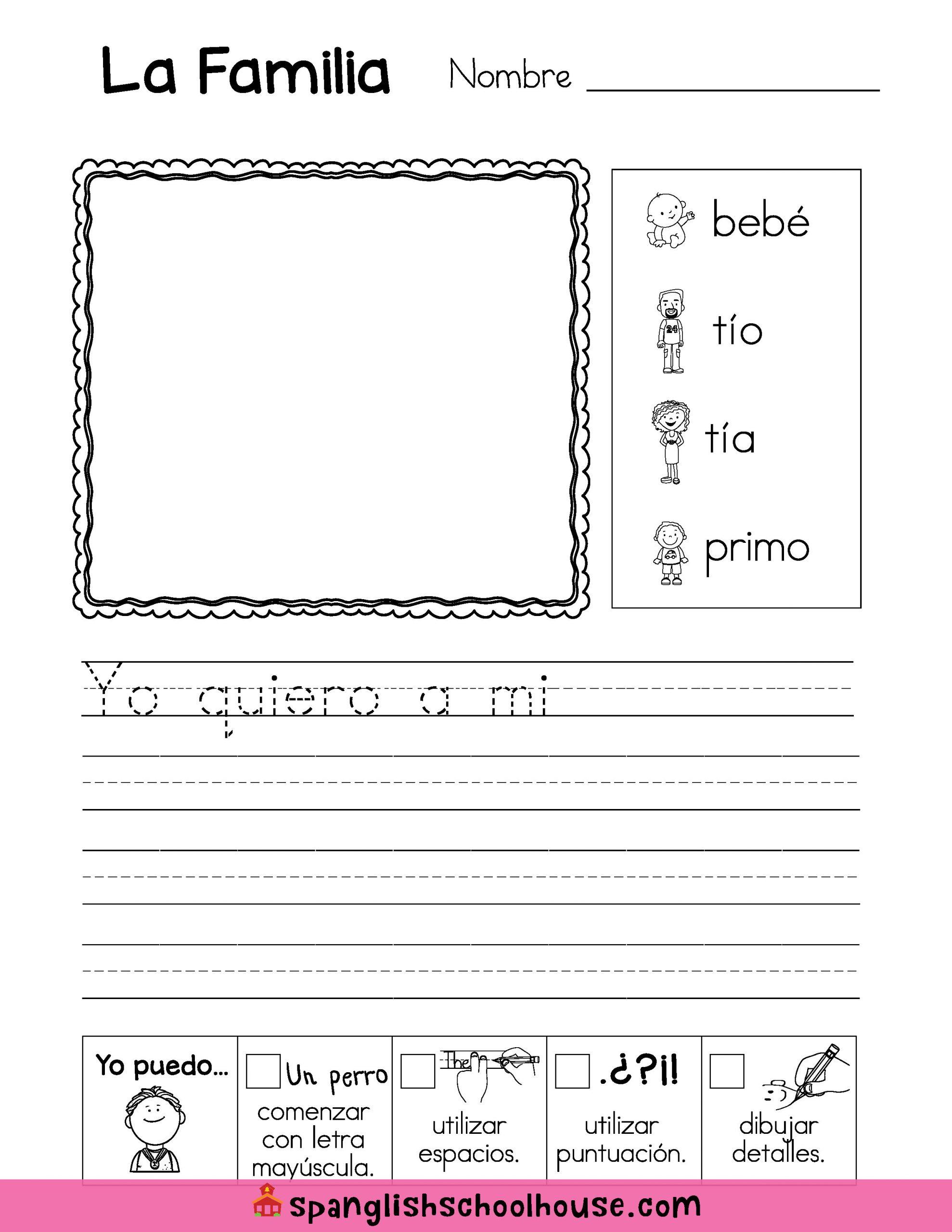 La Familia Worksheet In Spanish La Familia Family Vocabulary In Spanish