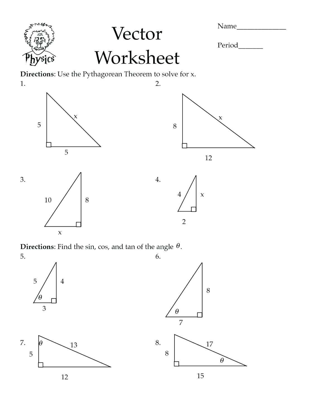 Law Of Cosines Worksheet the Law Sines Worksheet Answers Nidecmege