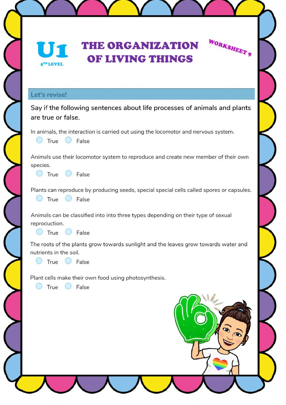 Levels Of organization Worksheet organization Of Living Things 9 Interactive Worksheet