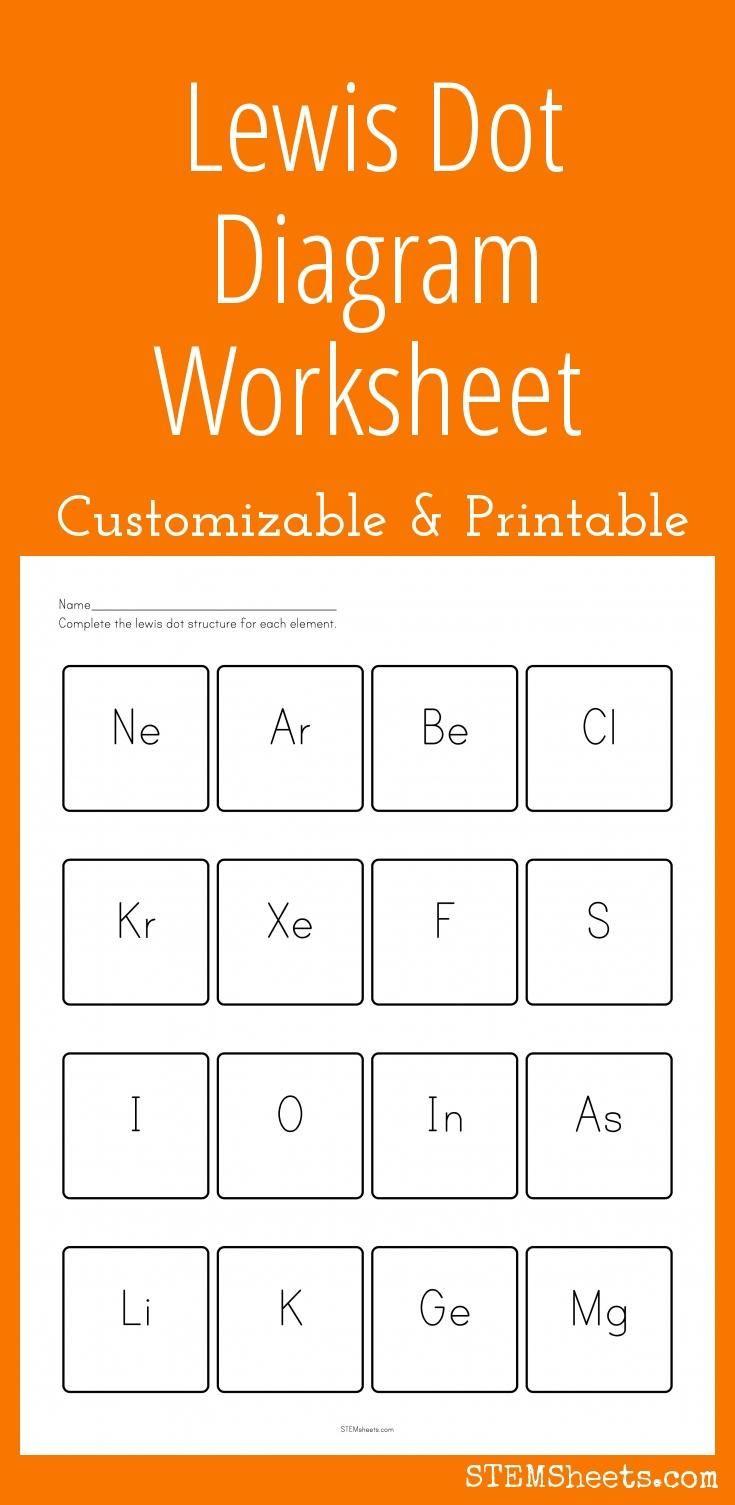 Lewis Dot Structure Practice Worksheet Lewis Dot Diagram Worksheet