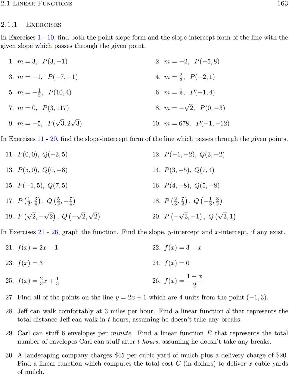 Linear and Nonlinear Functions Worksheet Linear and Quadratic Functions Pdf Free Download