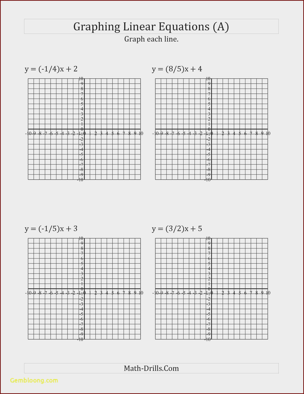 Linear and Nonlinear Functions Worksheet Linear Vs Nonlinear Equations Worksheet