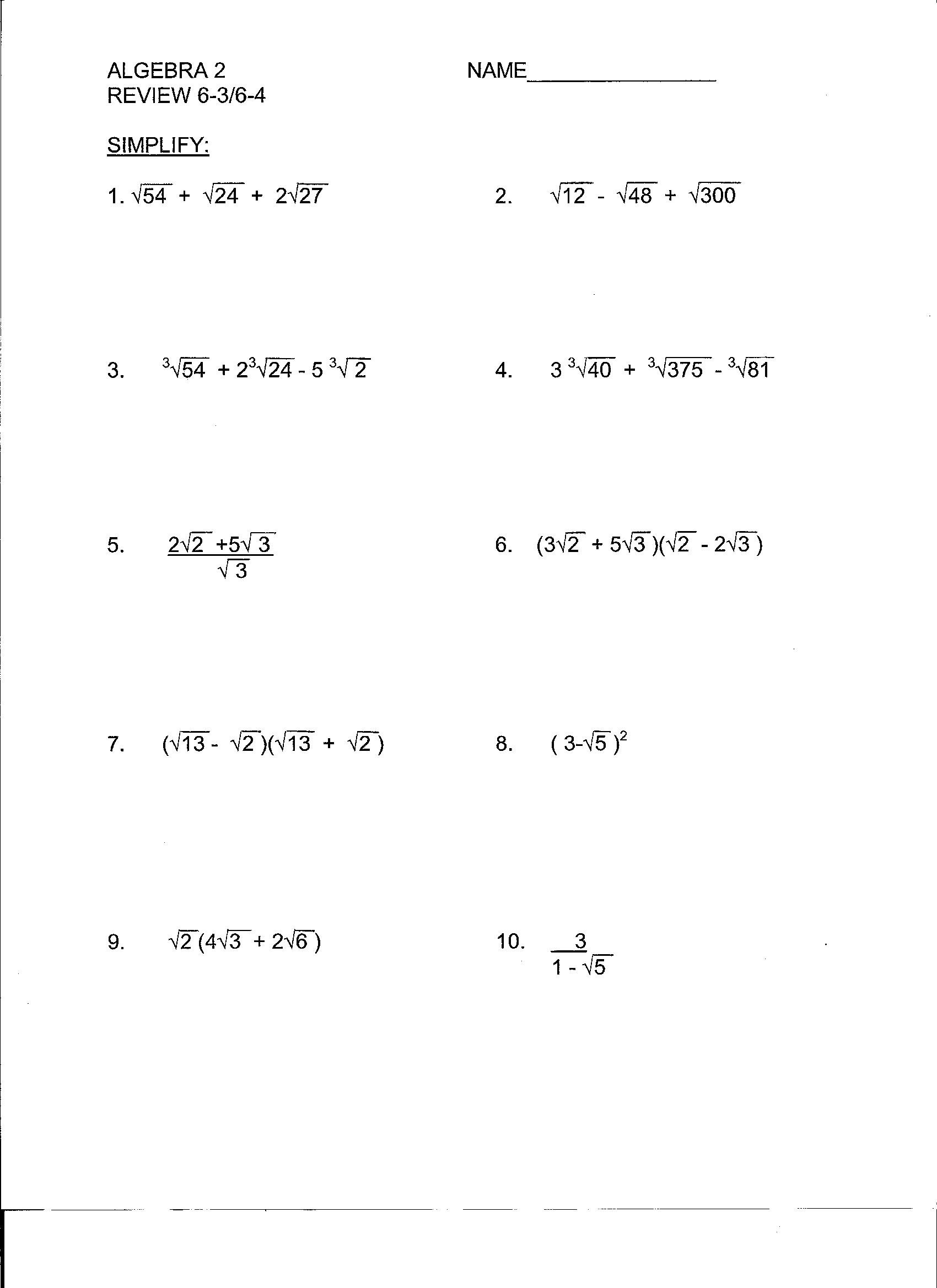 Linear Equations and Inequalities Worksheet Beunier Smith Yvette College Algebra Documents