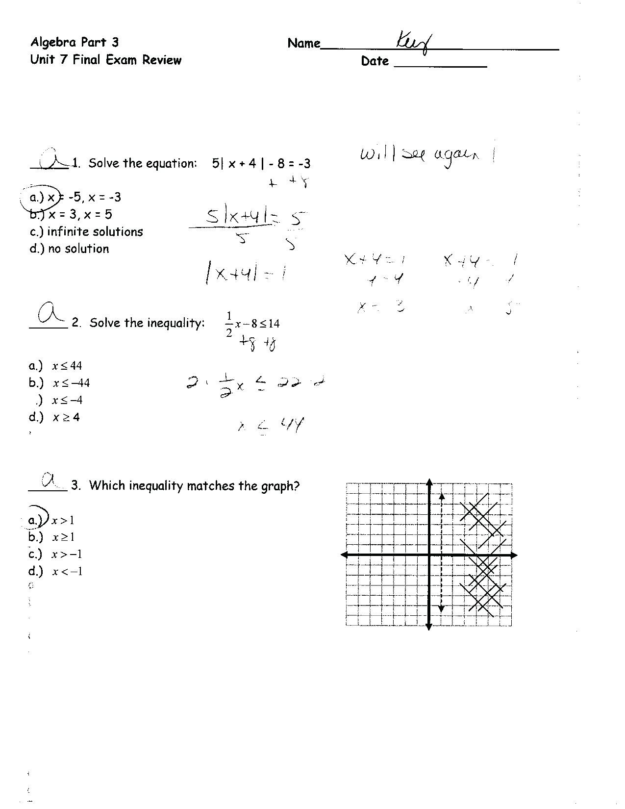 Linear Equations and Inequalities Worksheet Equations and Inequalities Worksheet with Answers Nidecmege