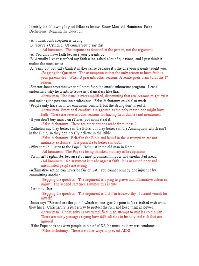 Logical Fallacies Worksheet with Answers Apolo Ics Fallacies Worksheet Answers Reason
