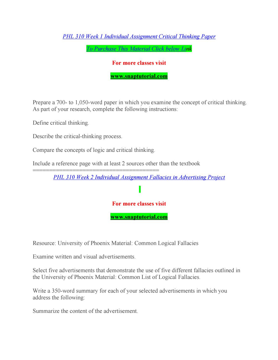 Logical Fallacies Worksheet with Answers Phl 310 by Saracitastephiekat87 issuu