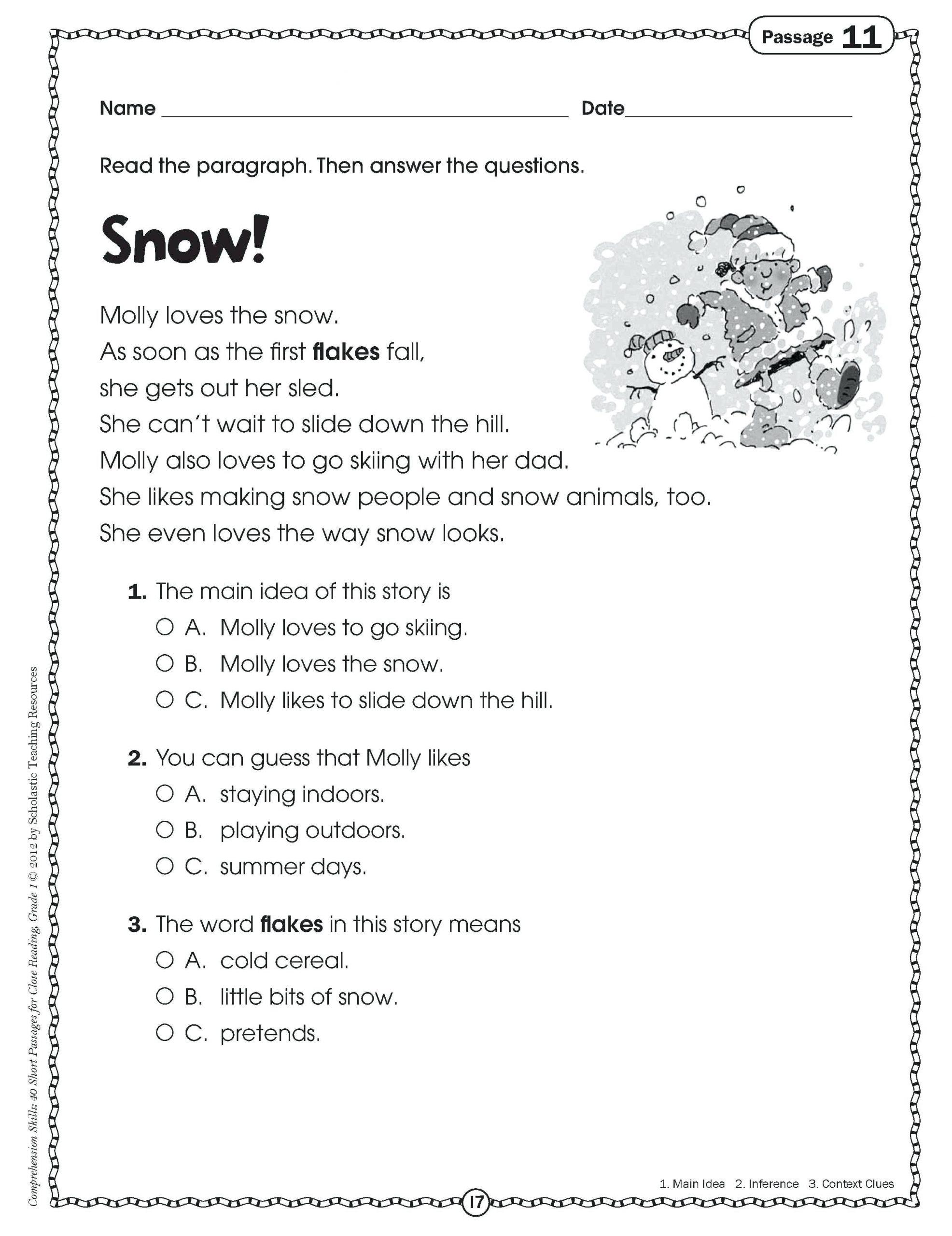 Main Idea Worksheet 4th Grade Main Idea Worksheets 4th Grade to Printable Math Worksheet