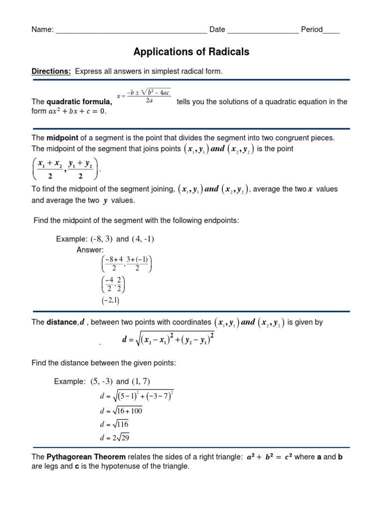 Midpoint and Distance Worksheet Midpoint Distance Worksheet