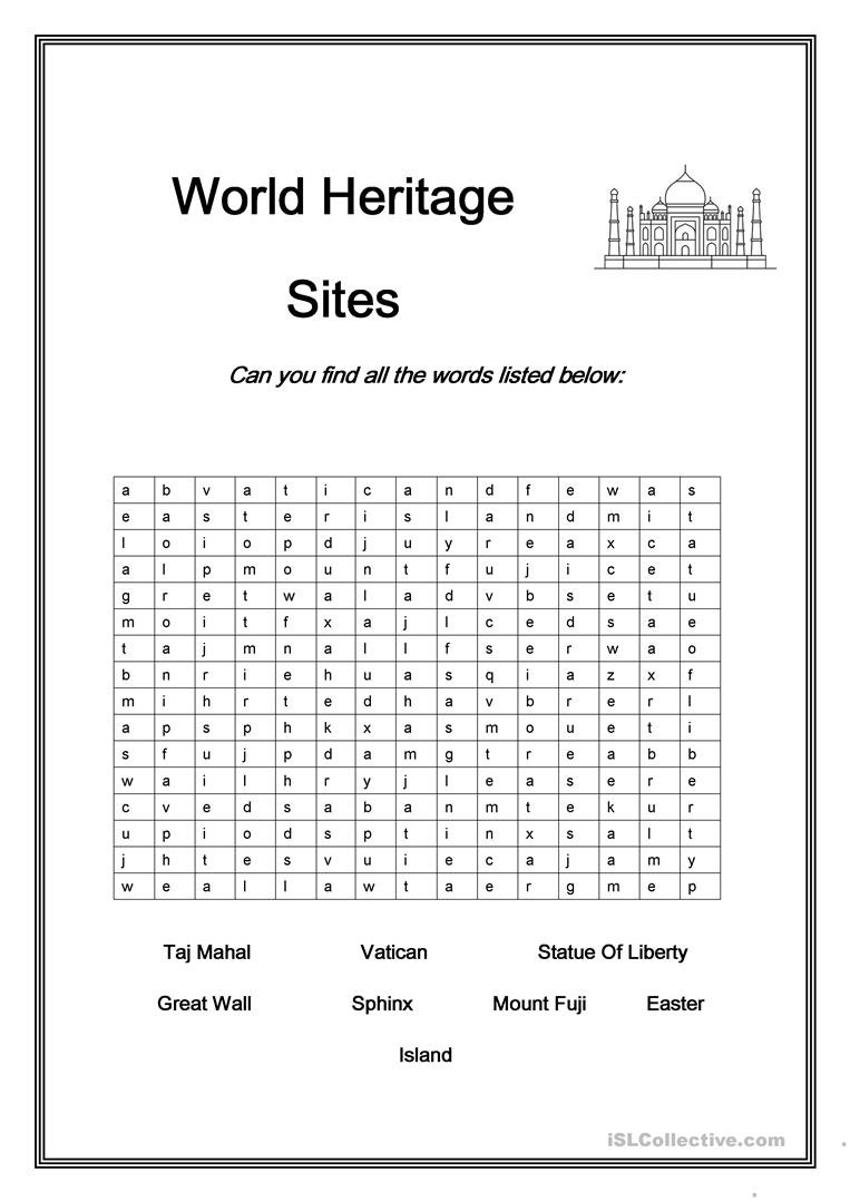 Midpoint and Distance Worksheet World Heritage Sites English Esl Worksheets for Distance
