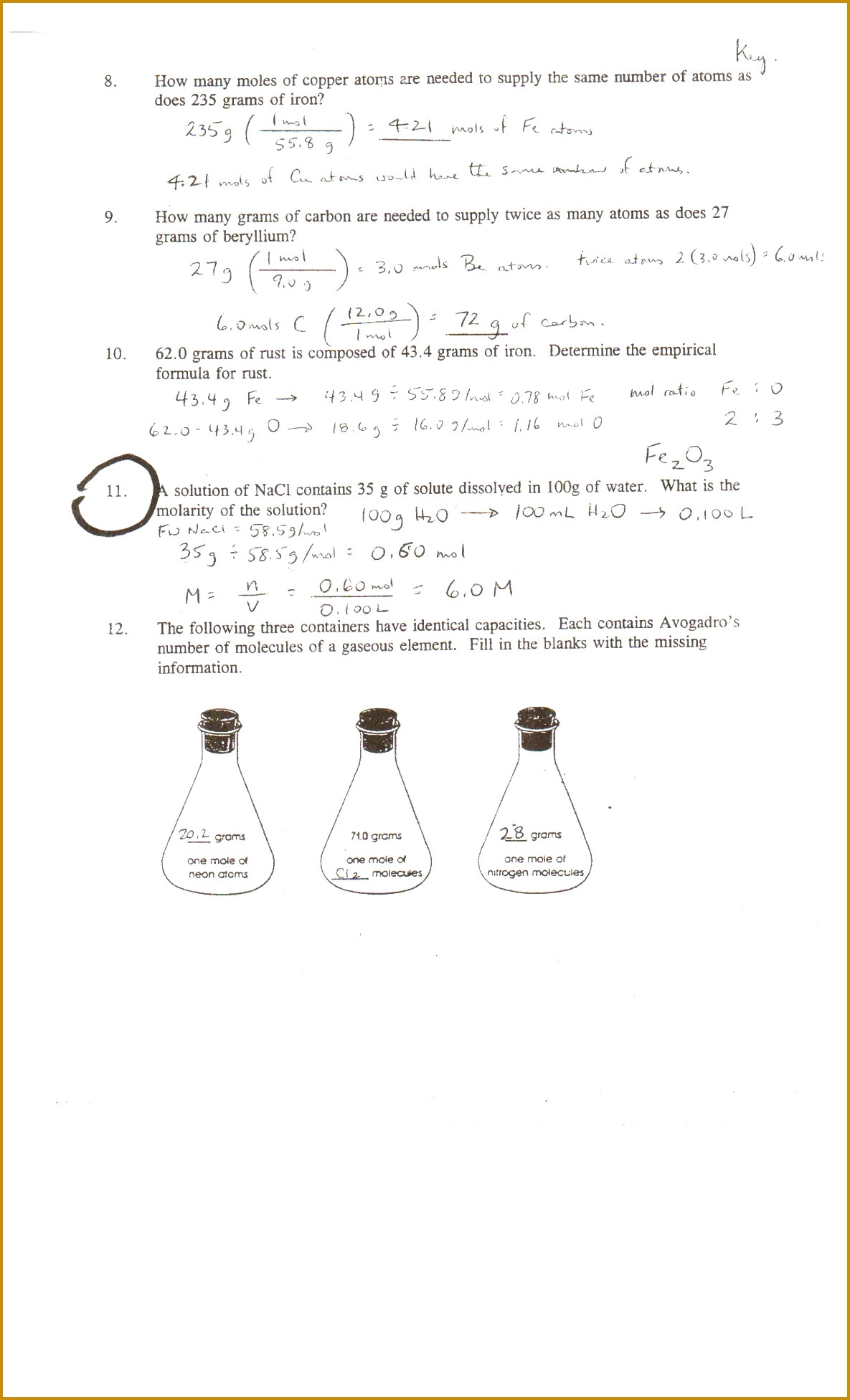 Mole Worksheet 1 Moles to Grams Worksheet for Kids
