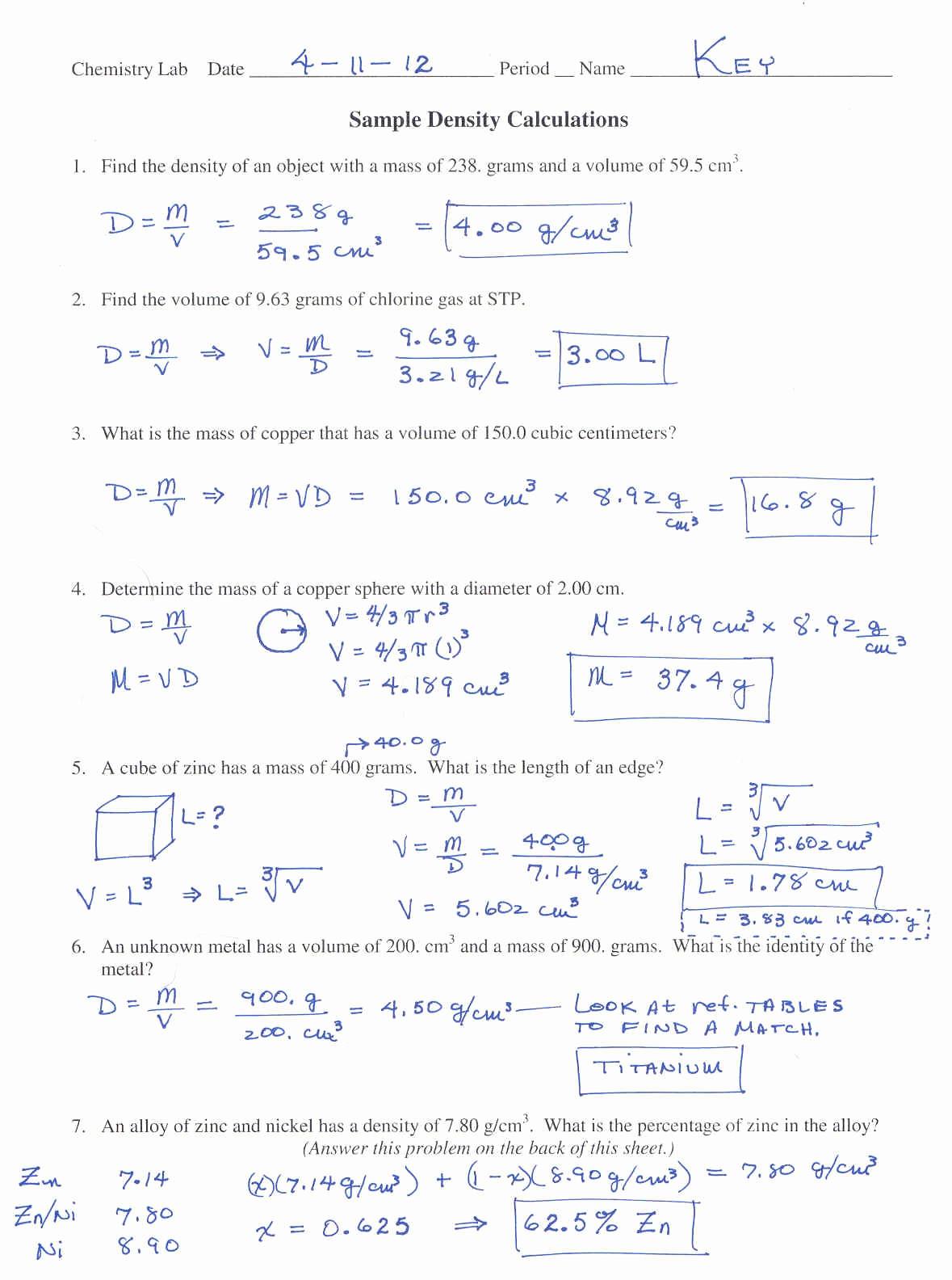 Mole Worksheet 1 Points Promotion Worksheet