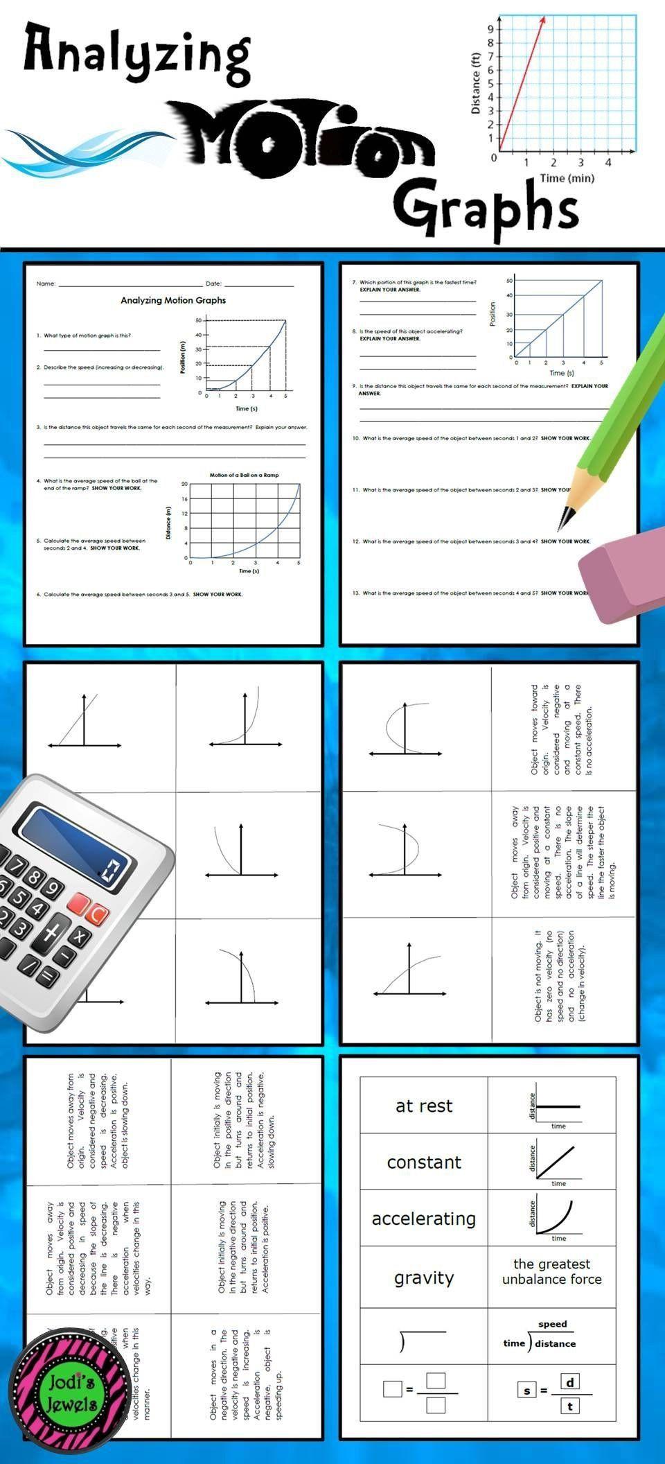 Motion Graphs Worksheet Answer Key Motion Graphs Worksheet Answer Key Students Will Practice