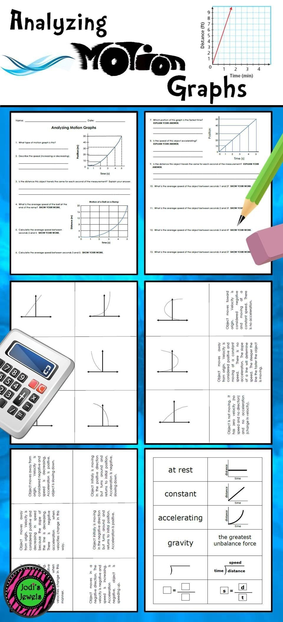 Motion Graphs Worksheet Answers Motion Graphs Worksheet Answer Key Students Will Practice