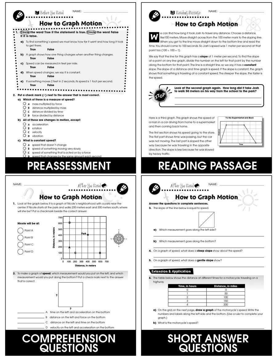Motion Graphs Worksheet Answers Motion How to Graph Motion Gr 5 8 Grades 5 to 8 Lesson